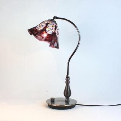 ベネチアングラステーブルランプ fc-570ay-fantasy-smerlate-amethyst