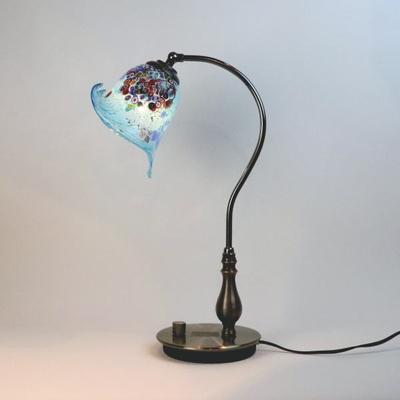 ベネチアングラステーブルランプ fc-570ay-goti-p-calla-azure