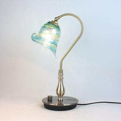 ベネチアングラステーブルランプ fc-210g-calla-sbruffo-lightblue-green