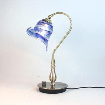 ベネチアングラステーブルランプ fc-210g-calla-sbruffo-blue-lightblue