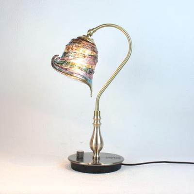 ベネチアングラステーブルランプ fc-210g-calla-sbruffo-amethyst-lightblue-amber