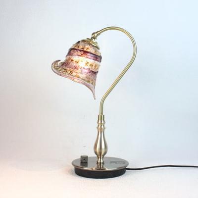 ベネチアングラステーブルランプ fc-210g-calla-sbruffo-amethyst-amber