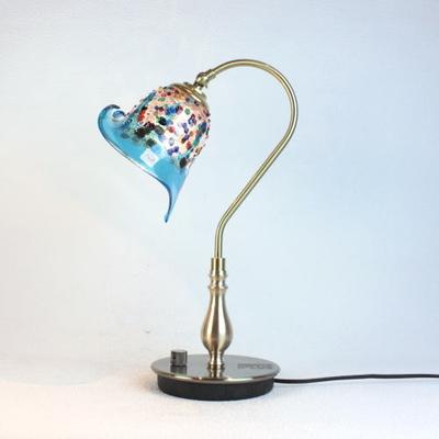 ベネチアングラステーブルランプ fc-210g-fantasy-calla-lightblue