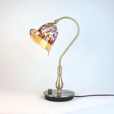 ベネチアングラステーブルランプ fc-210g-fantasy-calla-amber