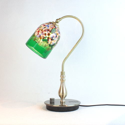 ベネチアングラステーブルランプ fc-210g-fantasy-goto-green
