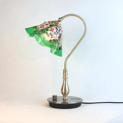 ベネチアングラステーブルランプ fc-210g-fantasy-smerlate-green