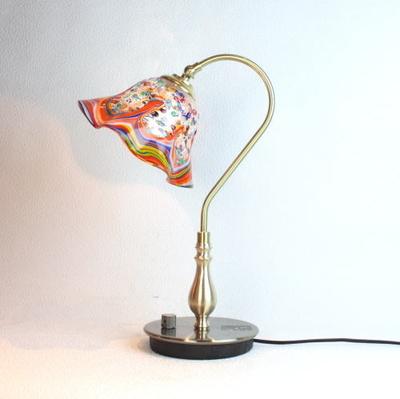 ベネチアングラステーブルランプ fc-210g-fantasy-smerlate-arlecchino
