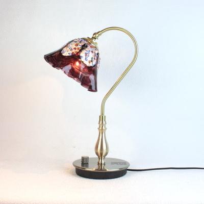 ベネチアングラステーブルランプ fc-210g-fantasy-smerlate-amethyst