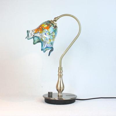 ベネチアングラステーブルランプ fc-210g-fazoletto-lightblue