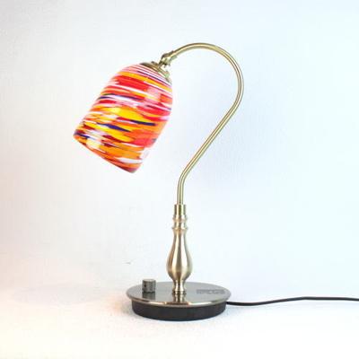 ベネチアングラステーブルランプ fc-210g-goto-garbin-orange