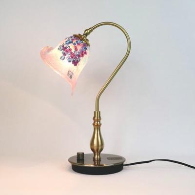 ベネチアングラステーブルランプ fc-210g-goti-p-calla-pink