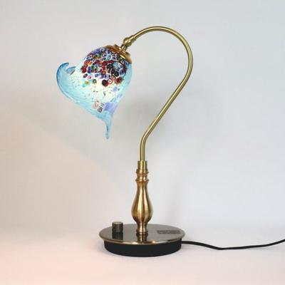 ベネチアングラステーブルランプ fc-210g-goti-p-calla-azure