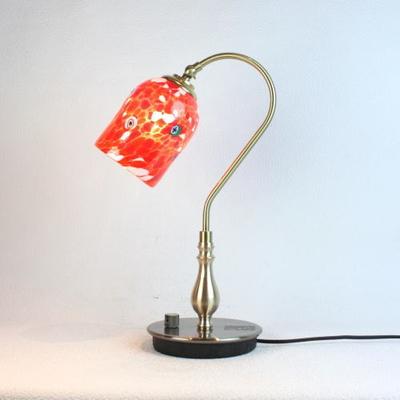 ベネチアングラステーブルランプ fc-210g-pasta2-white-red