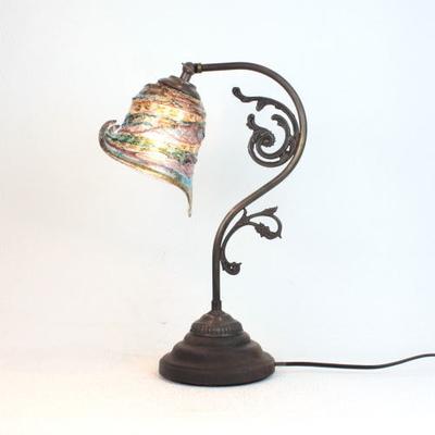 ベネチアングラステーブルランプ fc-600a-calla-sbruffo-amethyst-lightblue-amber