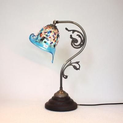 ベネチアングラステーブルランプ fc-600a-fantasy-calla-lightblue