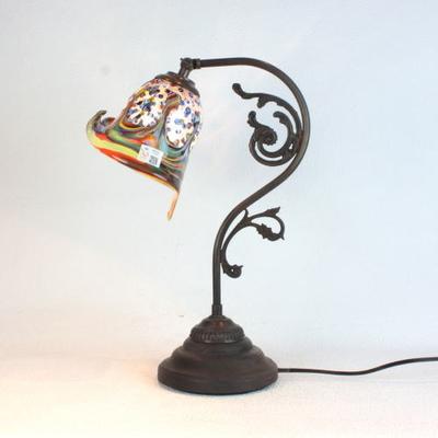 ベネチアングラステーブルランプ fc-600a-fantasy-calla-arlecchino