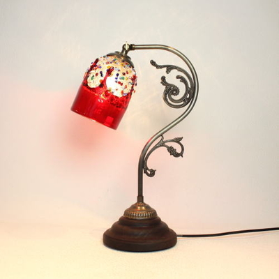 ベネチアングラステーブルランプ fc-600a-fantasy-goto-red