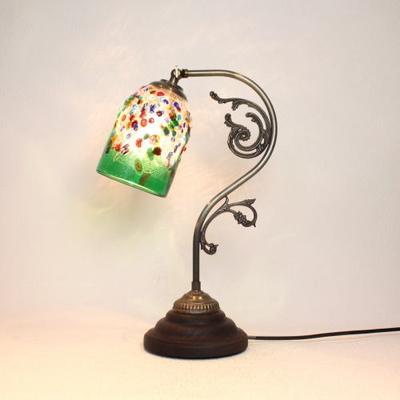 ベネチアングラステーブルランプ fc-600a-fantasy-goto-green