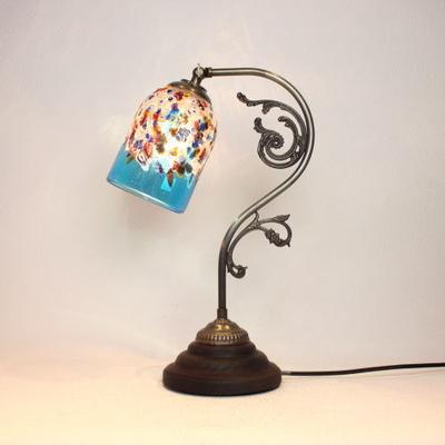 ベネチアングラステーブルランプ fc-600a-fantasy-goto-lightblue