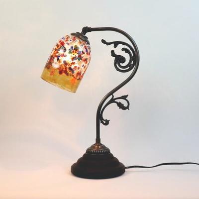 ベネチアングラステーブルランプ fc-600a-fantasy-goto-amber