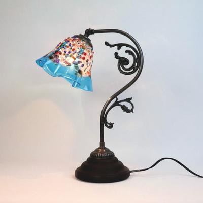 ベネチアングラステーブルランプ fc-600a-fantasy-smerlate-lightblue