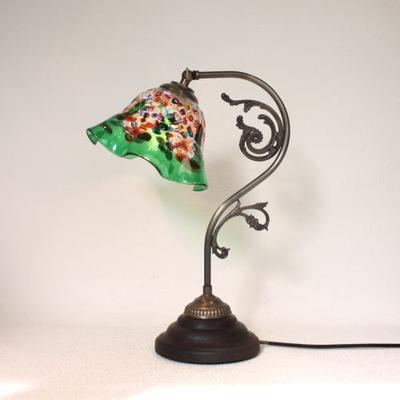 ベネチアングラステーブルランプ fc-600a-fantasy-smerlate-green