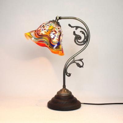 ベネチアングラステーブルランプ fc-600a-fantasy-smerlate-arlecchino