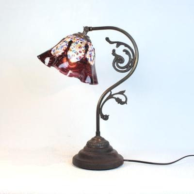 ベネチアングラステーブルランプ fc-600a-fantasy-smerlate-amethyst