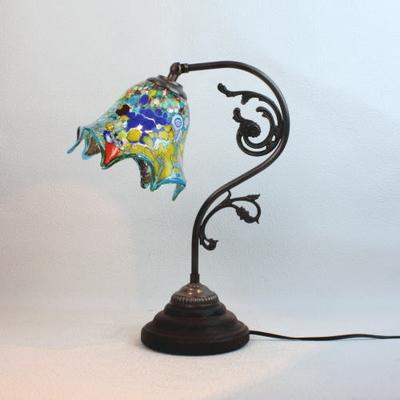 ベネチアングラステーブルランプ fc-600a-fazoletto-lightblue
