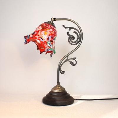 ベネチアングラステーブルランプ fc-600a-fazoletto-red