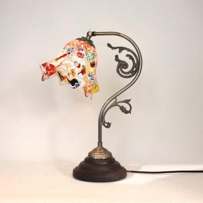 ベネチアングラステーブルランプ fc-600a-fazoletto-amber