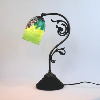 ベネチアングラステーブルランプ fc-600a-goti-p-goto-green