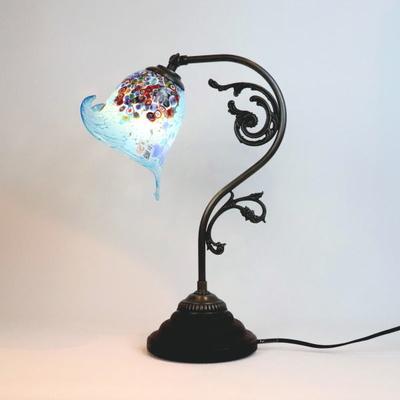 ベネチアングラステーブルランプ fc-600a-goti-p-calla-azure