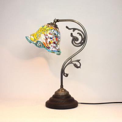 ベネチアングラステーブルランプ fc-600a-silver-smerlate-lightblue