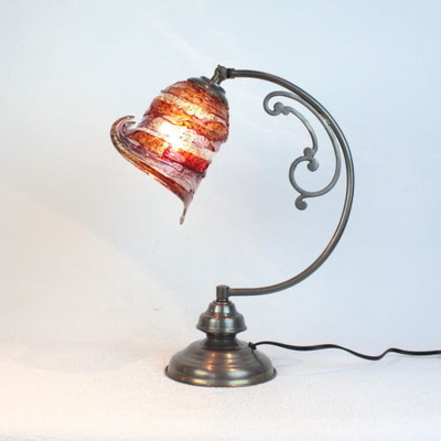 ベネチアングラステーブルランプ dd10ay-calla-sbruffo-red-amber-amethyst