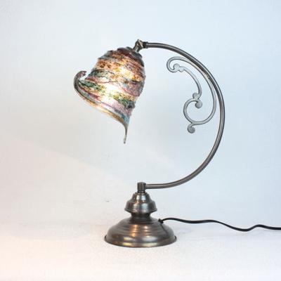 ベネチアングラステーブルランプ dd10ay-calla-sbruffo-amethyst-lightblue-amber