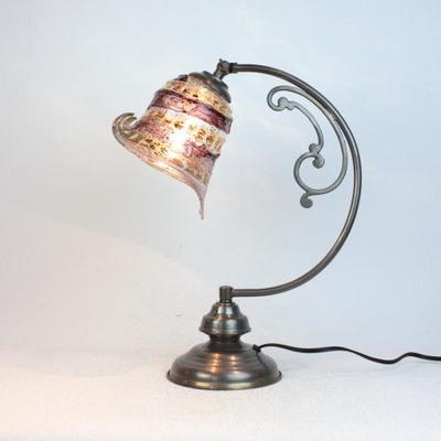 ベネチアングラステーブルランプ dd10ay-calla-sbruffo-amethyst-amber