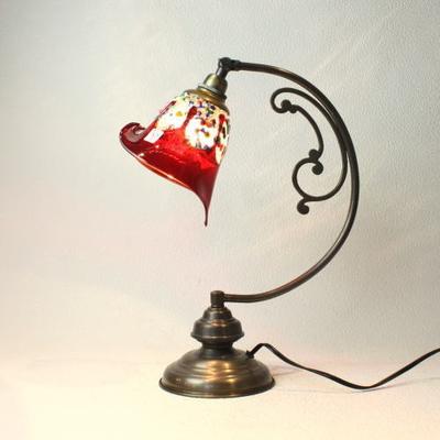ベネチアングラステーブルランプ dd10ay-fantasy-calla-red