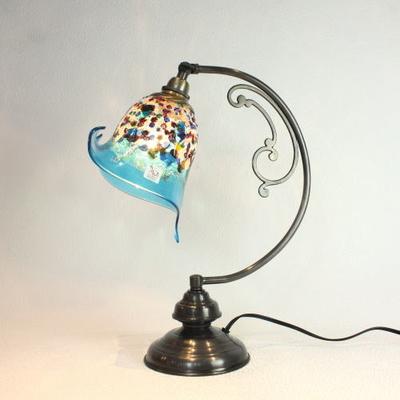 ベネチアングラステーブルランプ dd10ay-fantasy-calla-lightblue