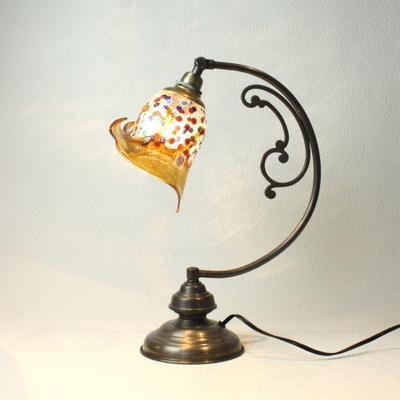 ベネチアングラステーブルランプ dd10ay-fantasy-calla-amber