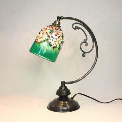 ベネチアングラステーブルランプ dd10ay-fantasy-goto-green
