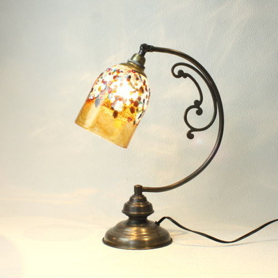 ベネチアングラステーブルランプ dd10ay-fantasy-goto-amber