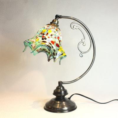 ベネチアングラステーブルランプ dd10ay-fazoletto-lightblue