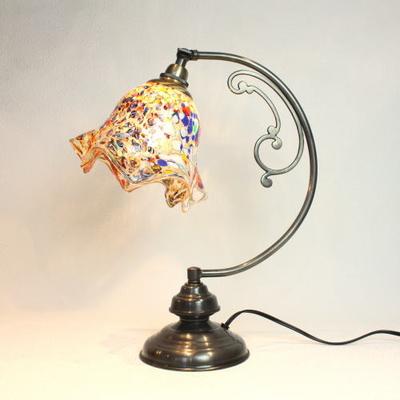 ベネチアングラステーブルランプ dd10ay-fazoletto-amber