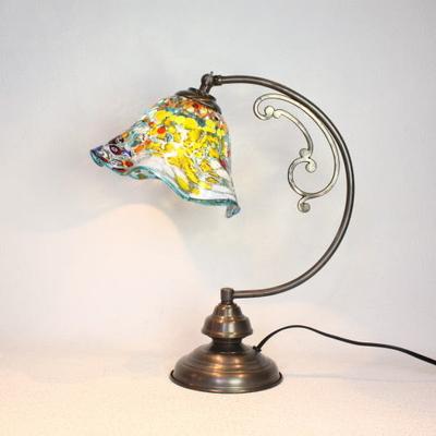 ベネチアングラステーブルランプ dd10ay-silver-smerlate-lightblue
