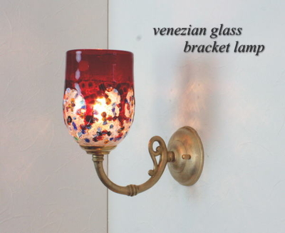 ベネチアングラスブラケットランプ fc-w634gy-fantasy-goto-red