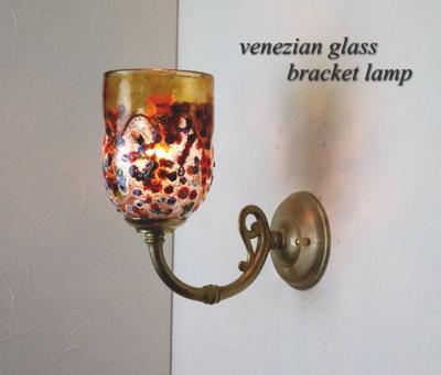 ベネチアングラスブラケットランプ fc-w634gy-fantasy-goto-amber