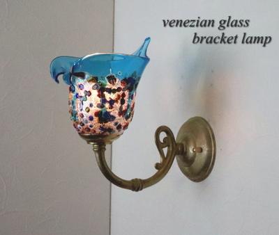 ベネチアングラスブラケットランプ fc-w634gy-fantasy-calla-lightblue