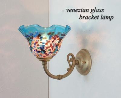 ベネチアングラスブラケットランプ fc-w634gy-fantasy-smerlate-lightblue