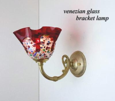 ベネチアングラスブラケットランプ fc-w634gy-fantasy-smerlate-red